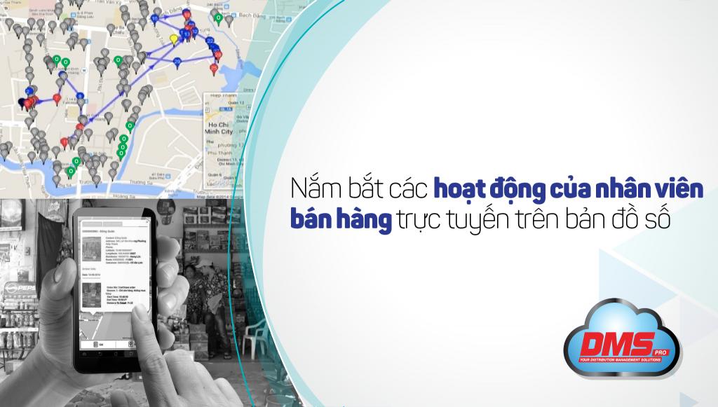 Nắm bắt các hoạt động của NV kinh doanh trực tuyến trên bản đồ số